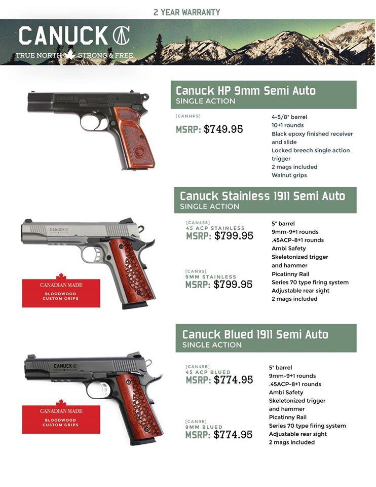 Canuck Pistols